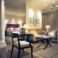A double room at Langham Hotel London
